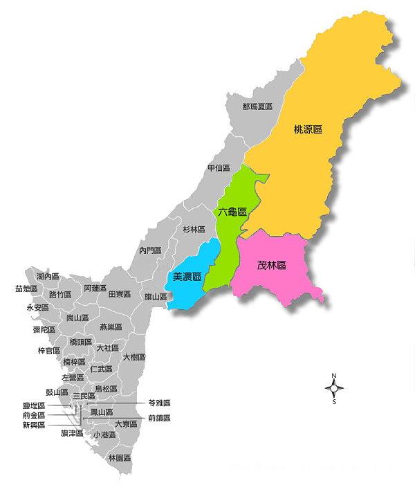 本所行政轄區範圍圖